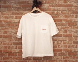 ポケットTシャツ ダルマ ホワイト(T00007-01)
