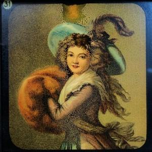 幻燈スライド「毛皮の女流画家」