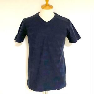 Links-JQ Camouflage V-neck T-shirts Navy
