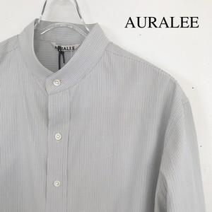 AURALEE/オーラリー ・Washed Finx Twill Stripe Shirts