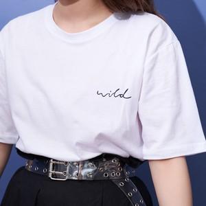 ホワイト Tシャツ (wild) 【古川優香 select】