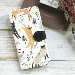 iPhone 手帳型スマホケース【北欧の猫】 iPhone5/5s/SE/6/6s/7/8/X/XS
