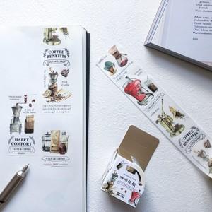 【海外文具】コーヒーのマスキングテープ(40mm×5m)