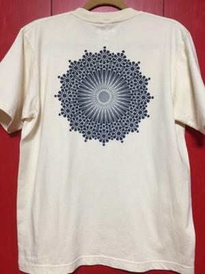 TシャツL 藍錠型染め islam ロゼット