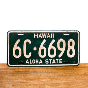 Hawaii license plates / 1960 / 6C-6698