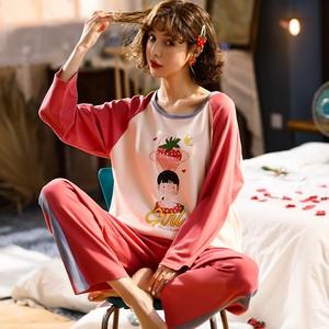 【パジャマ】キュート裏起毛長袖着気持ちいいフード付きルームウェア2点セットパジャマ25743825