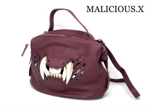 cat  fang shoulder bag / wine red