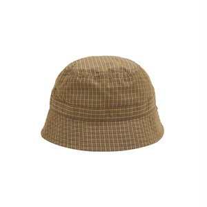 WHIMSY / PLAID CORDURA NYLON HAT -BROWN-