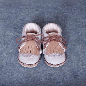 Baby Shoes / Cammel × Waxed Natural WING TIP / 13cm / Sayū