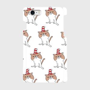 帽子をかぶったハナペちゃん(茶はちわれ) 側表面印刷スマホケース iPhone7 ツヤ有り(コート)