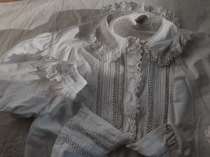 FRANCE 1900~1910's antique embroidery blouse