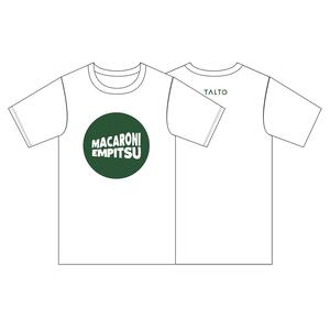 ウェーブロゴTシャツ(ホワイト × グリーン)