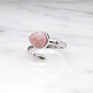 SINGLE STONE OPEN RING SILVER 016