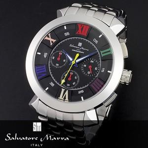【Salvatore Marra サルバトーレマーラ】クロノグラフ腕時計 SM14107-SSBKCL