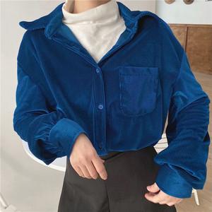 【トップス】秋冬ゆったり韓国風ファッション学生合わせやすいins大人気シャツ