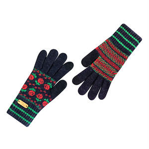 Touch screen gloves - Dancing Rose (RED)