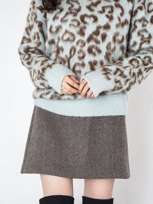 Wool mini skirt  [B-11]