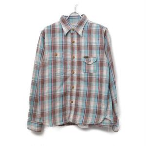 Pherrow's / フェローズ | ライトウェイトチェックネルシャツワークシャツ | 36 | ブラウン