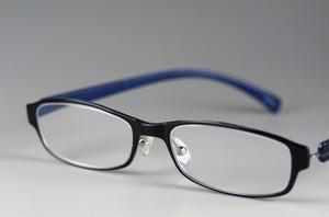薄型スタイリッシュなやわらか老眼鏡・ブルー/ソフトケース付き[603BL]