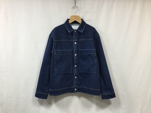 "CURLY"" MAZARINE TRUCKER JACKET WASHED INDIGO"""