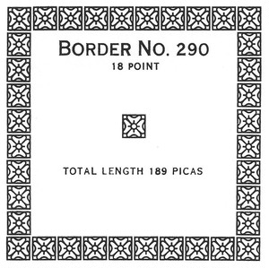 Border 290  18pt