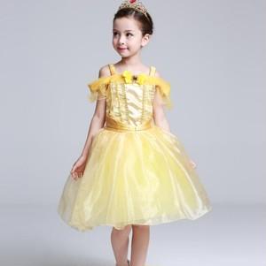 8464子供ドレス キッズ ベビー ジュニア 女の子ドレス フォーマルドレス プリンセス コスチューム キャラクター 美女と野獣 ベル