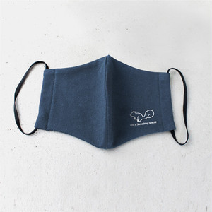 Print Cotton Mask Navy