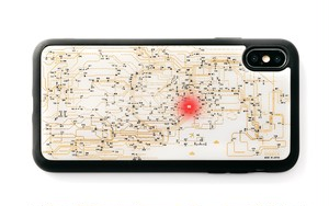 FLASH 東京回路線図 iPhone XS Maxケース 白【東京回路線図A5クリアファイルをプレゼント】