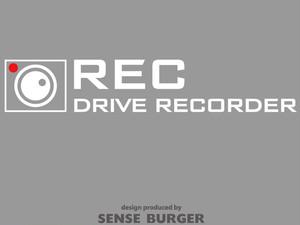 ●REC ドラレコ ドライブサイン REC DRIVE RECORDER 搭載車 録画中 撮影中 ドライブレコーダー ステッカー シール 車に貼れる 監視 防犯 白 ホワイト