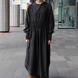 【VINCA TOKYO】COTTON SILK GATHERED DRESS