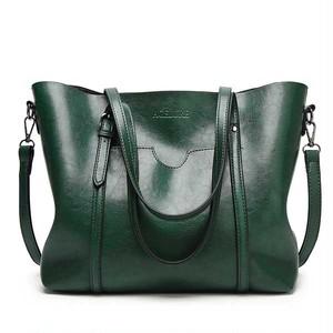 PUレザーハンドバッグ 財布付きポケット green