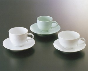 No.76,No.77,No.78【井上萬二窯作】珈琲、紅茶碗(笹彫文、青白磁、白磁)