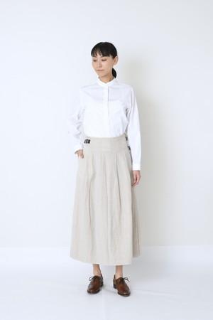 リネン/ウール ラップスカート アイボリー