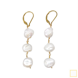 baroque pearl swing pierce&earring