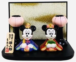 Disney×吉徳  ミッキー&ミニー ひな人形 【雛人形(素材 磁器)】
