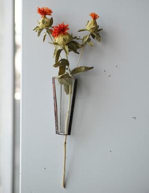 植物器:trapezium vase〚紅花〛