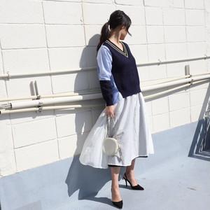 コットンシルクローンリバーシブルスカート【BB01-601】