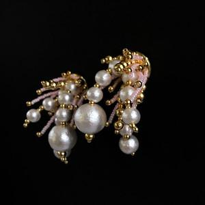 E-23 pierce/earring(gold×pink)