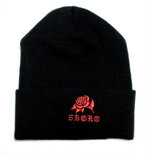 5BORO NYC 5B ROSE BEANIES BLACK ニットキャップ