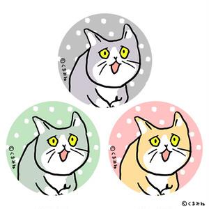 【9/23発売】「これからしかられるネコ」缶バッチセット(3個入)