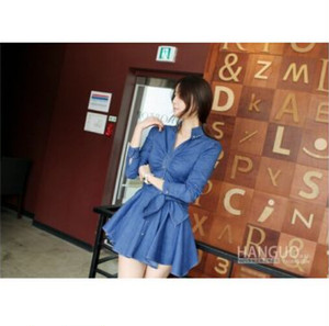 【即納】denim flare  one-piece Dress