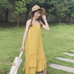 ★06292 レディースファッション ロングワンピース ミディアム丈 春夏 2019新作