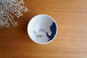 砥部焼/お茶碗(大)/青いぞうさん/きよし窯