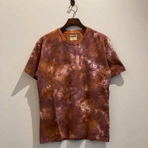 UNVEN DYEING TEE (FIRE RED) / LOST CONTROL