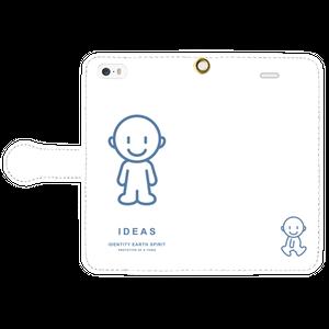 IDEAS/iPhone5/5s/SE手帳型ケース 803-ホワイト