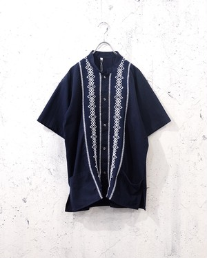 dark navy oriental shirt