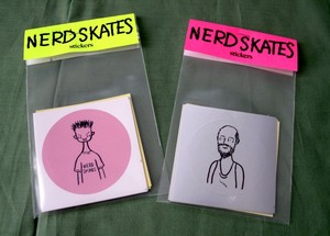 NERD SKATES STICKERS 6PACK