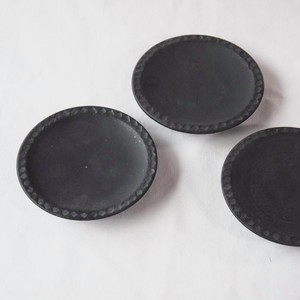 【薬師寺和夫】黒釉 小皿
