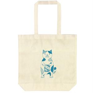 【エコトートバッグ】ネコおっさん ふりかけ