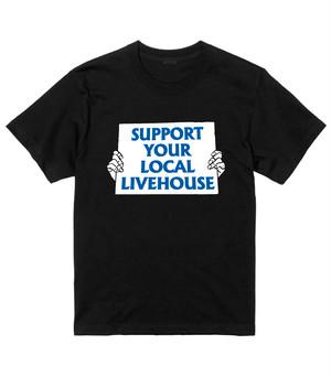 【5/20~6/12受注、6/30以降~順次発送】【KYOTO LIVEHOUSE(GATTACA, GROWLY, livehouse nano, KYOTO MUSE)黒】胸プリント(大)